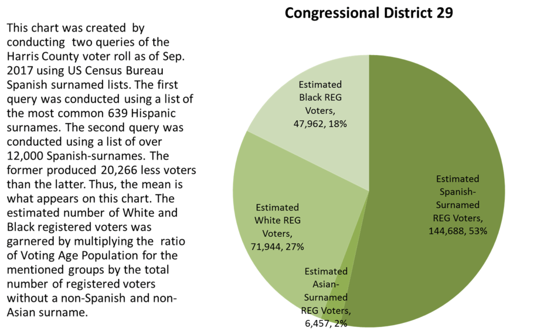 Estimated Electorate for Texas Congressional District 29