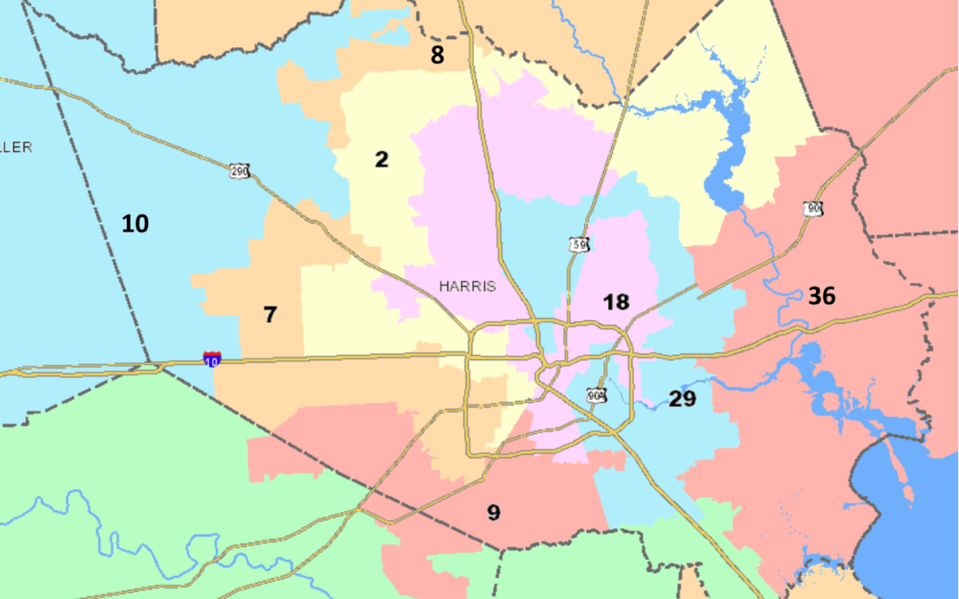 2017 Registered Voter Population for Congressional Districts- Harris County, TX (Estimated)