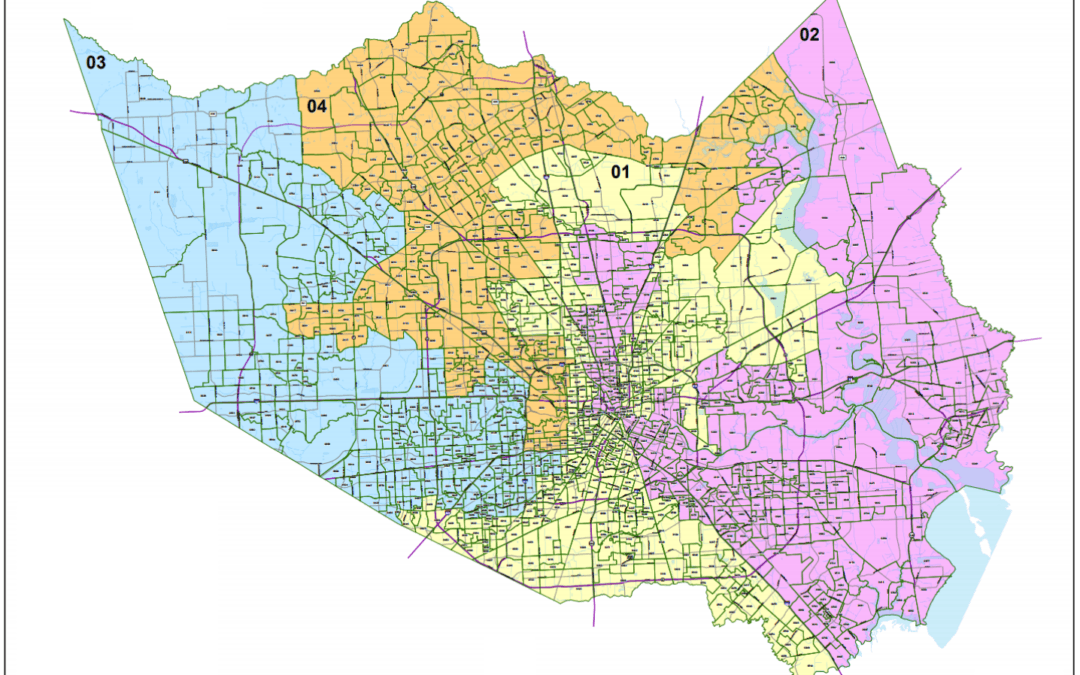 Harris County (Estimated) Voter Registration Population by Commissioner Precincts and Major Voting Groups